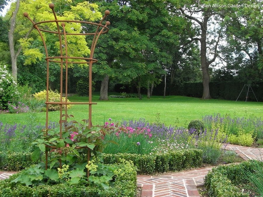 View across herb garden by Helen Allison Garden Design